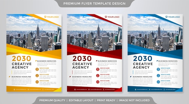Business flyer vorlage premium-stil