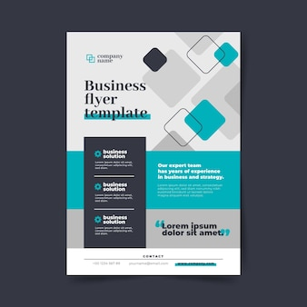 Business flyer vorlage Premium Vektoren
