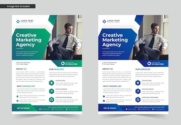 Business-flyer-vorlagen-design oder a4-flyer-vorlage
