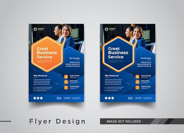 Business flyer vorlagen design