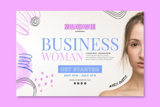 Business frau banner vorlage