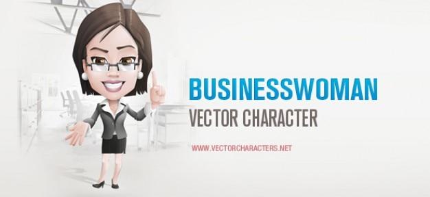 Business-frau vektor-zeichen