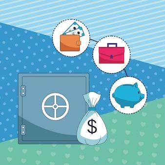 Business geld sparen element