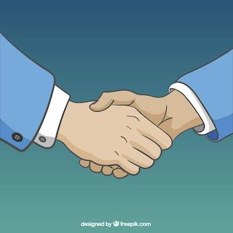 Business-handshake illustration