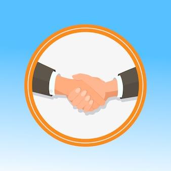 Business handshaking geste