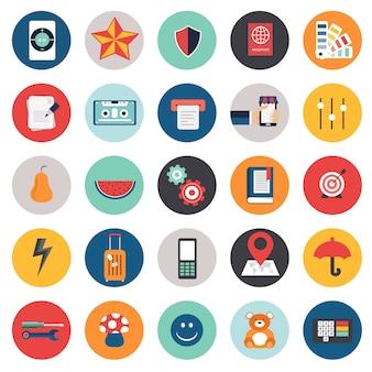 Business-icon-set für websites und mobile anwendungen