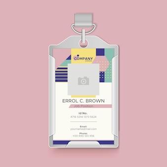 Business id card konzept