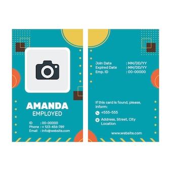 Business id card vorlage