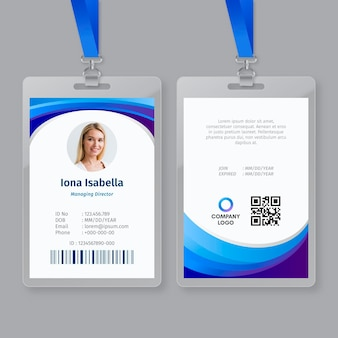 Business id card vorlage