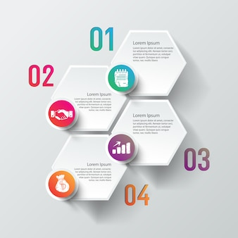 Business info grafikvorlage