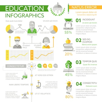 Business-info-poster, layout der broschüren-cover-vorlage mit symbolen, anderen infografik-elementen und fülltext