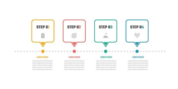 Business-infografik-design 5-schritte-timeline-vektor-illustrationen