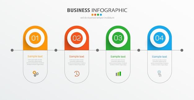 Business-infografik-design-vorlage mit 4 optionen