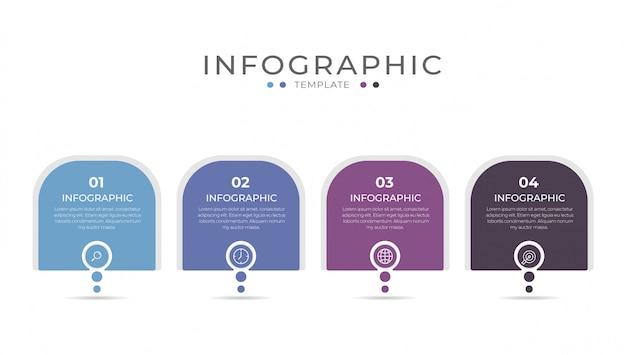 Business-infografik-element mit 4 optionen