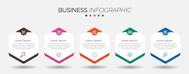 Business-infografik-element mit optionen