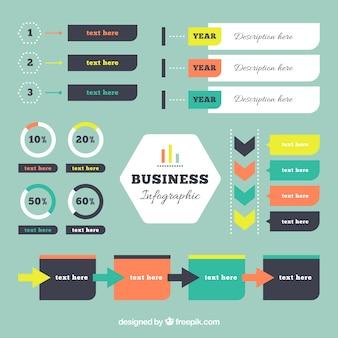 Business-infografik elemente in flaches design