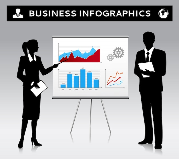 Business-infografik hintergrund-design