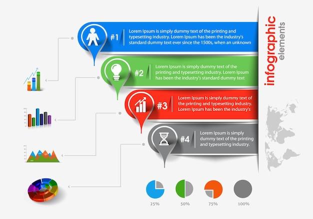 Business-infografik-hintergrund, vektor-illustration.