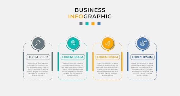 Business infografik in optionen