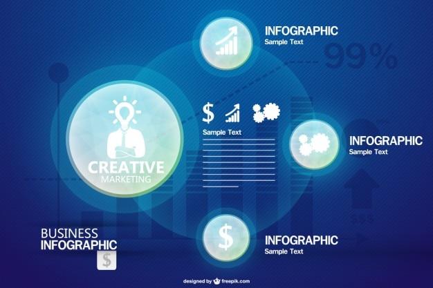 Business-infografik kostenlose vorlage