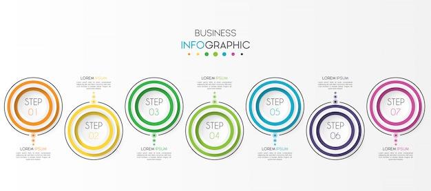 Business-infografik mit optionen oder schritten