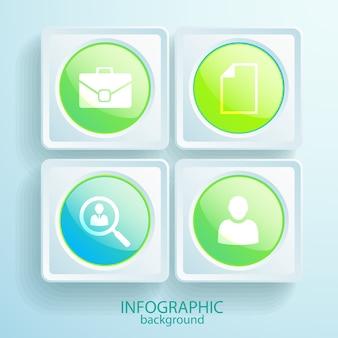 Business infografik mit vier schritten