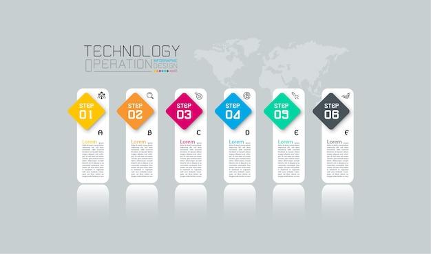 Business-infografik mit zehn schritten.