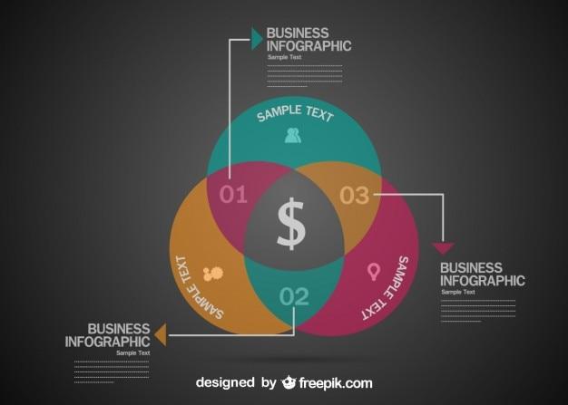 Business-infografik-präsentation
