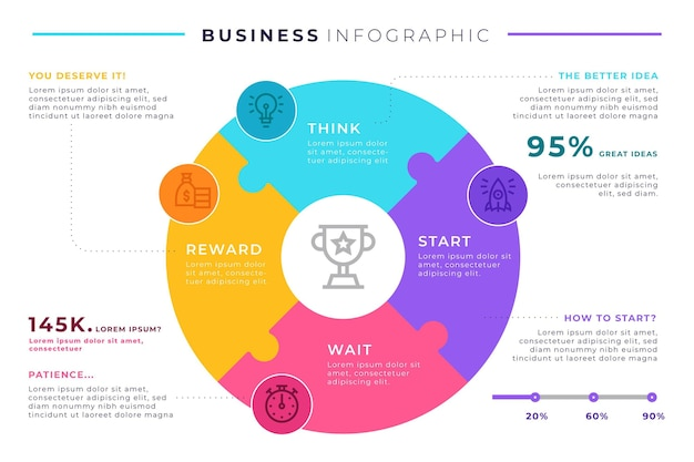 Business infografik template design