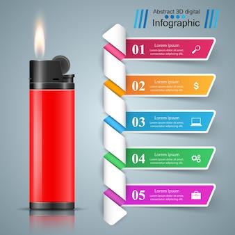 Business-infografik und marketing-symbol.
