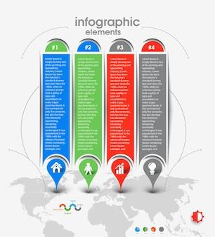 Business-infografik-vektor-hintergrund.