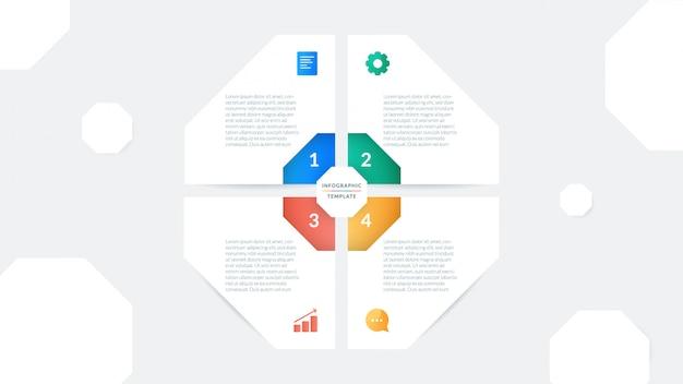 Business-infografik-vorlage für die präsentation