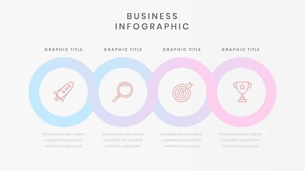 Business-infografik-vorlage mit vier optionen