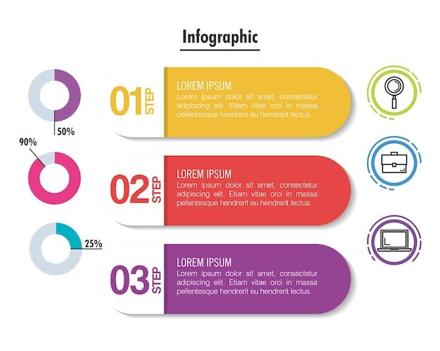 Business-infografik vorlage symbole
