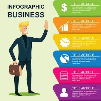 Business-infografik-vorlage