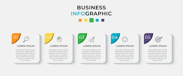 Business infografik vorlage