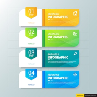 Business infografiken 4 schritte vorlage.