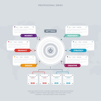 Business infografiken modernes konzept festgelegt