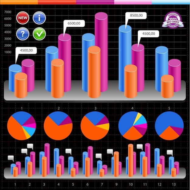Business infografiken und diagramme.