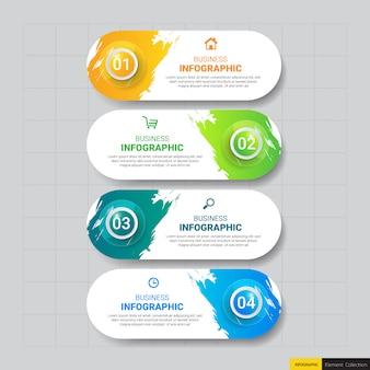Business-infografiken-vorlage mit vier schritten