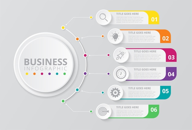Business infografiken vorlage