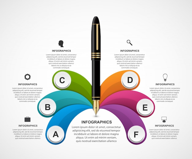 Business infografiken vorlage