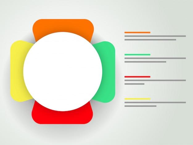 Business infografische vorlage layout.