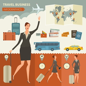 Business infographic-vorlage für reisen und reisen für ihr unternehmen, websites