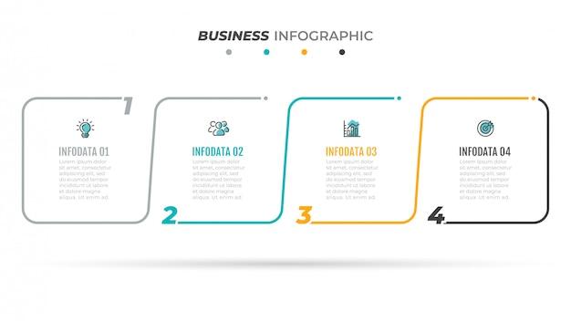 Business infographics vorlage