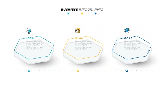 Business infographics vorlage