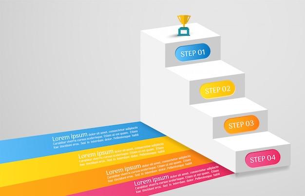 Business infographik vorlage mit optionen
