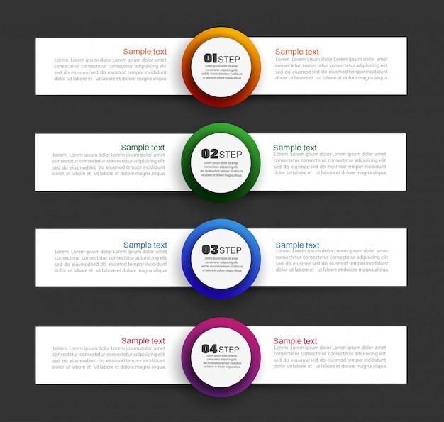 Business infographik vorlage mit schritten