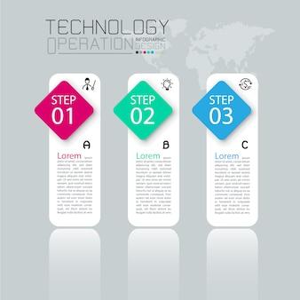 Business infographik vorlage mit zehn schritten