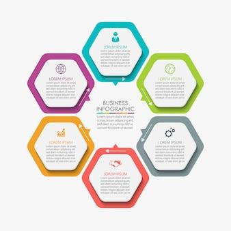 Business infographik vorlage